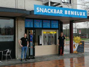 De tijdelijke locatie van snackbar Benelux